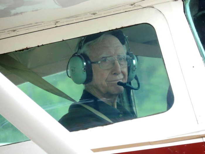 dads-90th-looking-out-plane-window