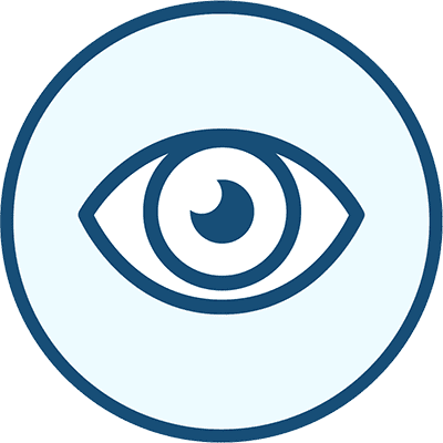 Icon of an eye, representing Sight.