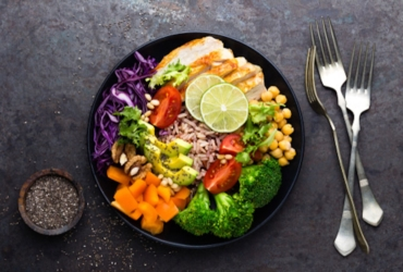 a healthy dinner plate