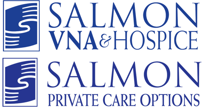 SALMON VNA & Hospice logo & SALMON Private Care Options logo