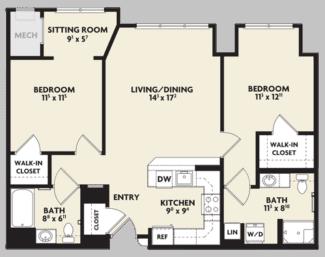 linden housing floor plan