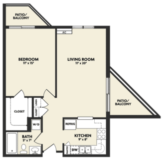 k housing floor plan