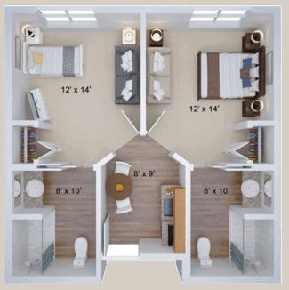 memory care companion housing floor plan