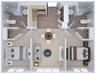 Traditional Two Bedroom - 1